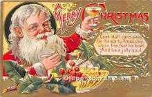 hol016418 - Santa Claus Postcard Old Vintage Christmas Post Card
