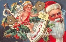 hol016419 - Santa Claus Postcard Old Vintage Christmas Post Card