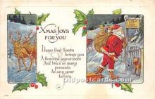 hol016424 - Santa Claus Postcard Old Vintage Christmas Post Card