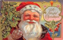 hol016426 - Santa Claus Postcard Old Vintage Christmas Post Card
