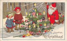 hol016427 - Santa Claus Postcard Old Vintage Christmas Post Card