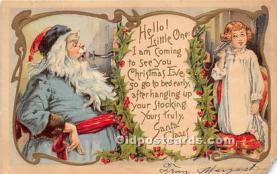 hol016430 - Santa Claus Postcard Old Vintage Christmas Post Card