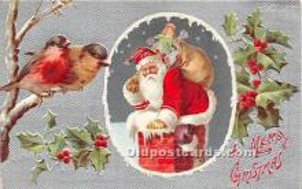 hol016431 - Santa Claus Postcard Old Vintage Christmas Post Card