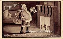 hol016432 - Santa Claus Postcard Old Vintage Christmas Post Card