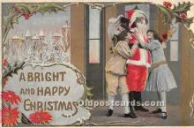 hol016433 - Santa Claus Postcard Old Vintage Christmas Post Card
