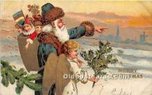 hol016434 - Santa Claus Postcard Old Vintage Christmas Post Card