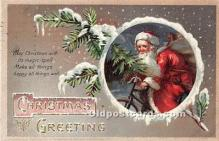 hol016435 - Santa Claus Postcard Old Vintage Christmas Post Card