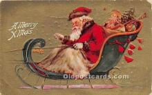 hol016437 - Santa Claus Postcard Old Vintage Christmas Post Card