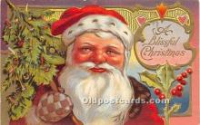 hol016439 - Santa Claus Postcard Old Vintage Christmas Post Card