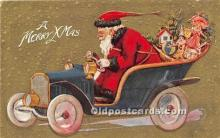 hol016440 - Santa Claus Postcard Old Vintage Christmas Post Card