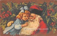 hol016442 - Santa Claus Postcard Old Vintage Christmas Post Card