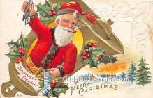 hol016443 - Santa Claus Postcard Old Vintage Christmas Post Card
