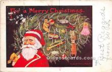 hol016446 - Santa Claus Postcard Old Vintage Christmas Post Card