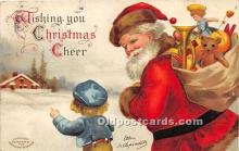 hol016448 - Santa Claus Postcard Old Vintage Christmas Post Card