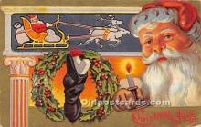 hol016450 - Santa Claus Postcard Old Vintage Christmas Post Card