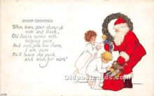 hol016452 - Santa Claus Postcard Old Vintage Christmas Post Card