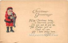 hol016453 - Santa Claus Postcard Old Vintage Christmas Post Card