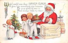 hol016455 - Santa Claus Postcard Old Vintage Christmas Post Card