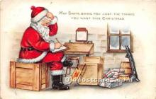 hol016456 - Santa Claus Postcard Old Vintage Christmas Post Card