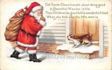 hol016458 - Santa Claus Postcard Old Vintage Christmas Post Card