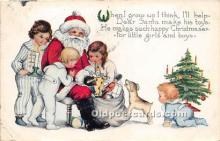 hol016459 - Santa Claus Postcard Old Vintage Christmas Post Card