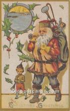 hol017002 - Santa Claus Postcard Old Vintage Christmas Post Card