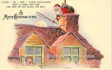 hol017005 - Santa Claus Postcard Old Vintage Christmas Post Card