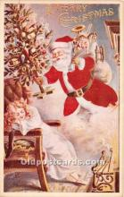 hol017006 - Santa Claus Postcard Old Vintage Christmas Post Card