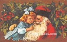 hol017007 - Santa Claus Postcard Old Vintage Christmas Post Card