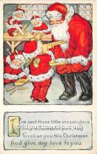 hol017013 - Santa Claus Postcard Old Vintage Christmas Post Card