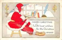 hol017014 - Santa Claus Postcard Old Vintage Christmas Post Card