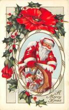 hol017016 - Santa Claus Postcard Old Vintage Christmas Post Card