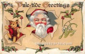 hol017018 - Santa Claus Postcard Old Vintage Christmas Post Card