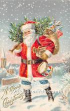 hol017022 - Santa Claus Postcard Old Vintage Christmas Post Card
