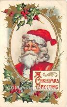 hol017023 - Santa Claus Postcard Old Vintage Christmas Post Card
