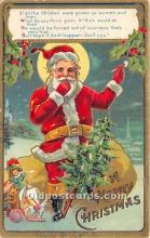 hol017025 - Santa Claus Postcard Old Vintage Christmas Post Card