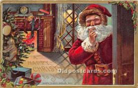 hol017029 - Santa Claus Postcard Old Vintage Christmas Post Card