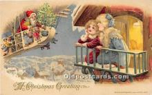 hol017030 - Santa Claus Postcard Old Vintage Christmas Post Card