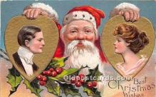 hol017031 - Santa Claus Postcard Old Vintage Christmas Post Card