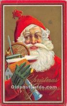 hol017032 - Santa Claus Postcard Old Vintage Christmas Post Card