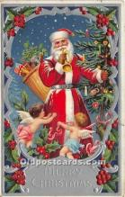 hol017034 - Santa Claus Postcard Old Vintage Christmas Post Card