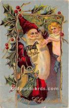 hol017036 - Santa Claus Postcard Old Vintage Christmas Post Card