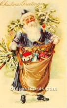 hol017038 - Santa Claus Postcard Old Vintage Christmas Post Card