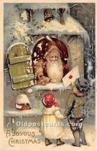 hol017041 - Santa Claus Postcard Old Vintage Christmas Post Card
