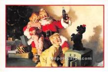 hol017042 - Santa Claus Postcard Old Vintage Christmas Post Card