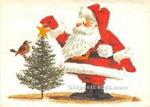 hol017043 - Santa Claus Postcard Old Vintage Christmas Post Card