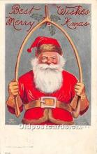 hol017044 - Santa Claus Postcard Old Vintage Christmas Post Card