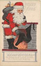 hol017047 - Santa Claus Postcard Old Vintage Christmas Post Card