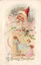 hol017048 - Santa Claus Postcard Old Vintage Christmas Post Card