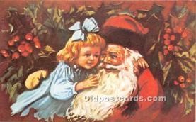 hol017053 - Santa Claus Postcard Old Vintage Christmas Post Card